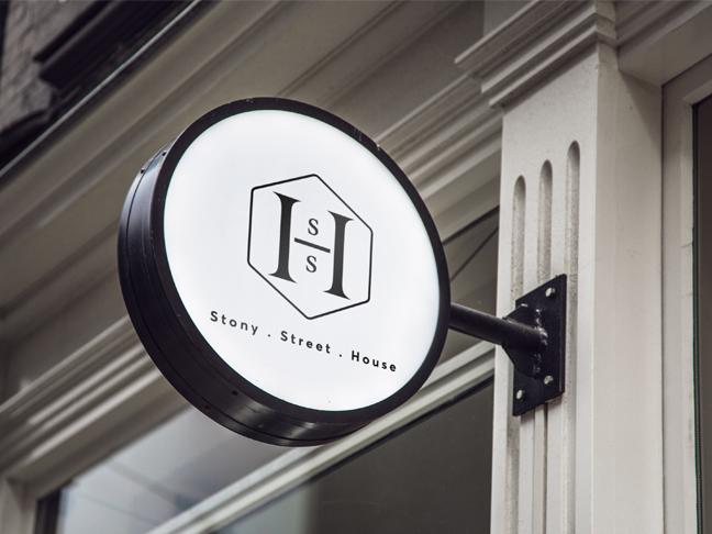 Stony Street House branding