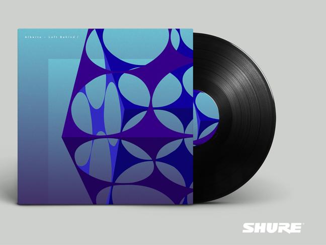 Shure vinyl artwork design